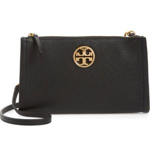 New Tory Burch leather Carson zip top cross body